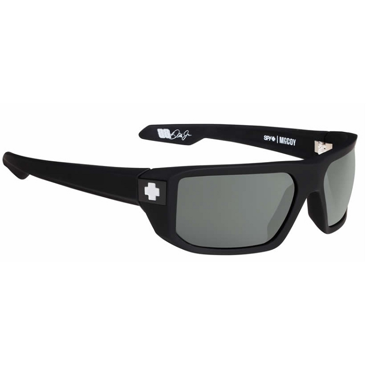 Spy McCoy Soft Matte Black / Happy Grey Green Polarized
