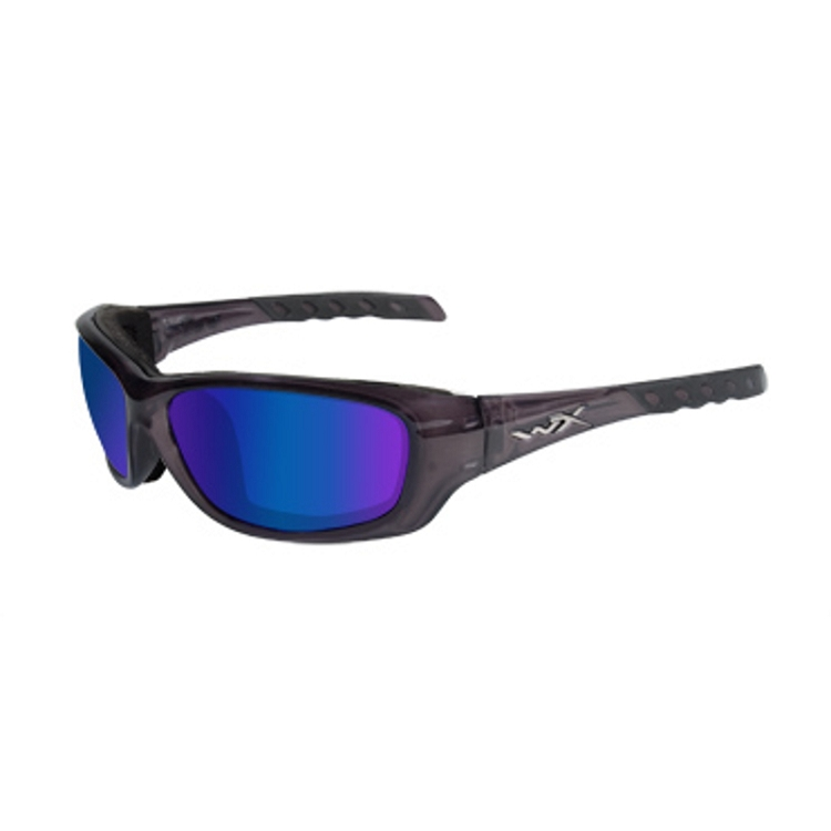Wiley X Gravity Black Crystal / Polarized Blue Mirror