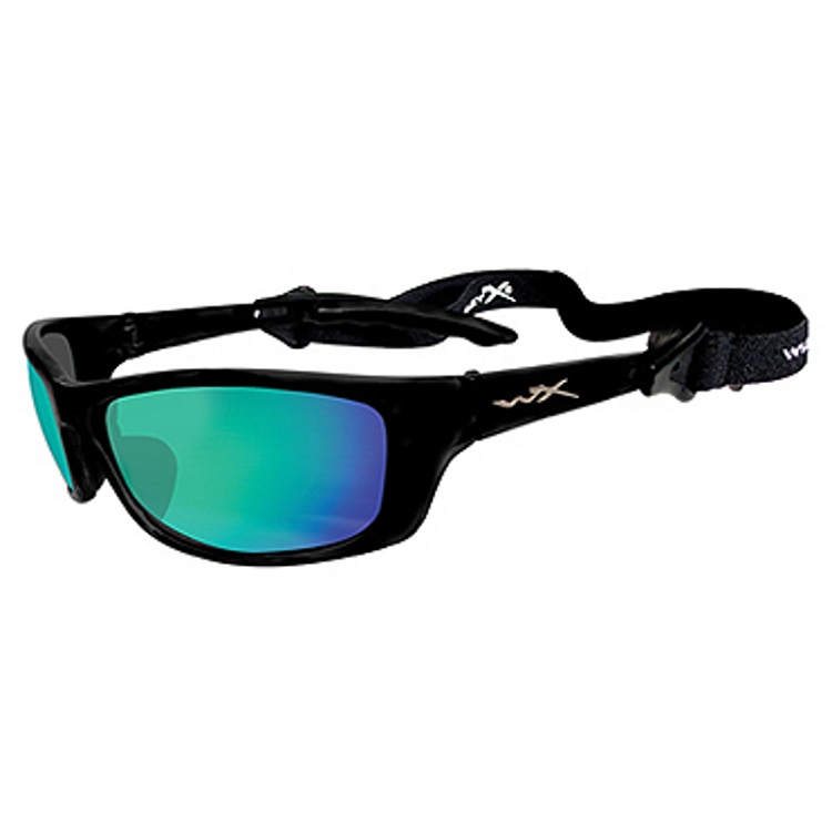 Wiley X P-17 Gloss Black / Polarized Emerald Green