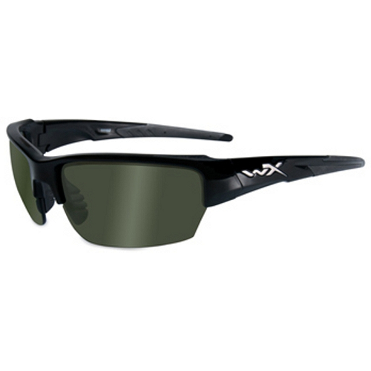 Wiley X Saint Gloss Black / Polarized Green