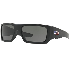 Oakley Standard Issue Ballistic Industrial Det Cord Matte Black with USA Flag / Grey