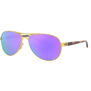 Oakley Feedback Satin Gold / Prizm Violet Polarized