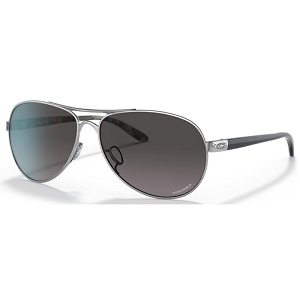 Oakley Feedback Polished Chrome / Prizm Grey Gradient