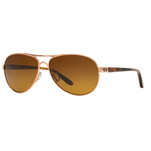 Oakley Feedback Rose Gold / Brown Gradient Polarized