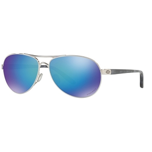 Oakley Feedback Polished Chrome / Prizm Sapphire Polarized