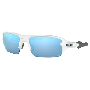 Oakley Flak XS (Youth Fit) Polished White / Prizm Deep Water Polarized