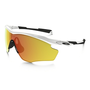 Oakley M2 Frame XL Polished White / Fire Iridium