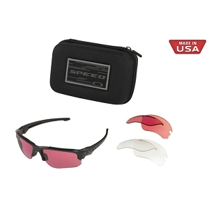 Oakley Standard Issue Speed Jacket Matte Black / Clear, Prizm TR22 and Prizm TR45