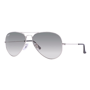 Ray Ban Aviator Silver / Light Grey Gradient