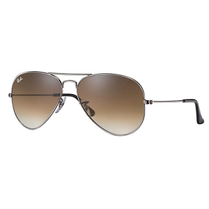 Ray Ban Aviator Gunmetal / Light Brown Gradient