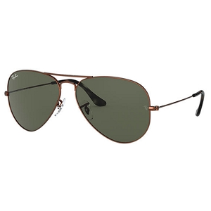 Ray Ban Aviator Brown Metal / Classic Green