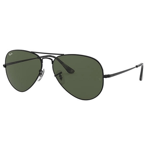 Ray Ban Aviator Black / Classic Green