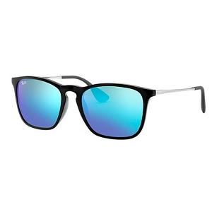 Ray Ban Chris Black with Gunmetal / Blue Mirror