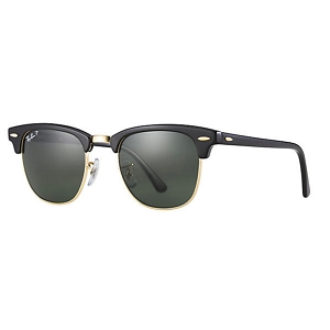 Ray Ban Clubmaster Black / Classic Green Polarized