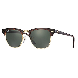 Ray Ban Clubmaster Tortoise / Classic Green