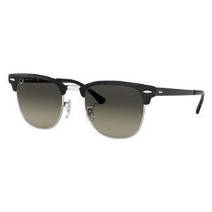 Ray Ban Clubmaster Metal Polished Black with Silver / Grey Gradient