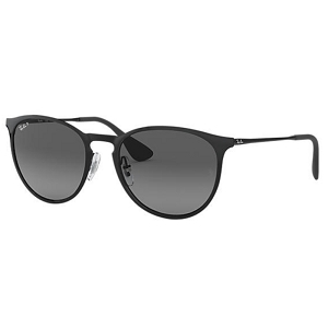 Ray Ban Erika Metal Shiny Black / Grey Gradient Polarized