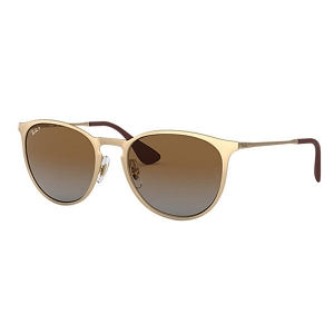 Ray Ban Erika Metal Matte Gold / Polarized Brown Gradient
