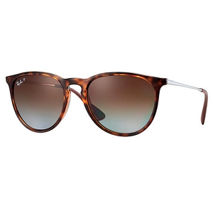 Ray Ban Erika Gloss Tortoise with Gunmetal / Polarized Brown Gradient