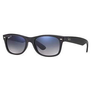 Ray Ban New Wayfarer Matte Black / Blue-Grey Gradient Polarized
