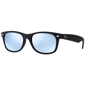 Ray Ban New Wayfarer Rubber Black / Silver Mirror