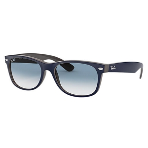 Ray Ban New Wayfarer Matte Blue on Opal Brown / Light Blue Gradient