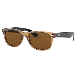 Ray Ban New Wayfarer Honey-Black / Polarized Brown Classic