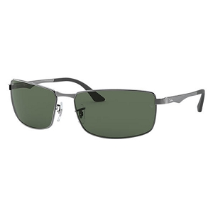 Ray Ban RB3498 Gunmetal / Classic Green
