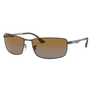 Ray Ban RB3498 Gunmetal / Polarized Brown Gradient