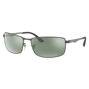 Ray Ban RB3498 Matte Gunmetal / Silver Mirror Polarized