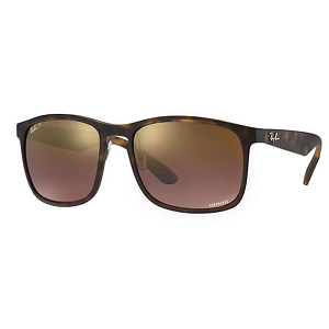 Ray Ban RB4264 Matte Tortoise / Polarized Brown-Purple Mirror