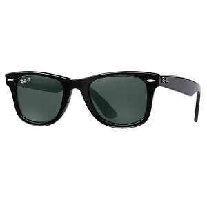Ray Ban Wayfarer Ease Polished Black / Classic Green Polarized