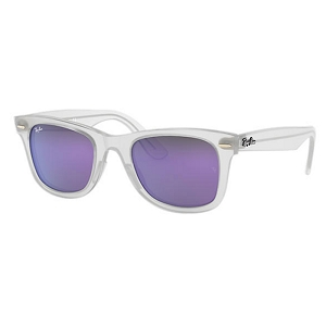 Ray Ban Wayfarer Ease Matte Transparent / Violet Mirror