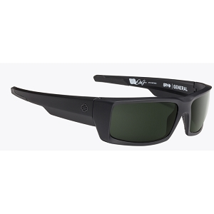 Spy General Soft Matte Black / Happy Grey Green Polarized