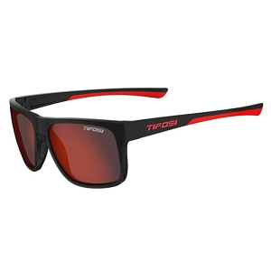 Tifosi Swick Satin Black / Crimson Smoke Red