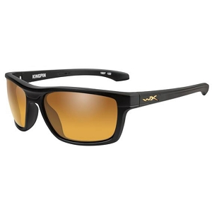Wiley X Kingpin Matte Black / Polarized Venice Gold Mirror