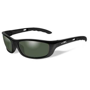 Wiley X P-17 Gloss Black / Polarized Smoke Green