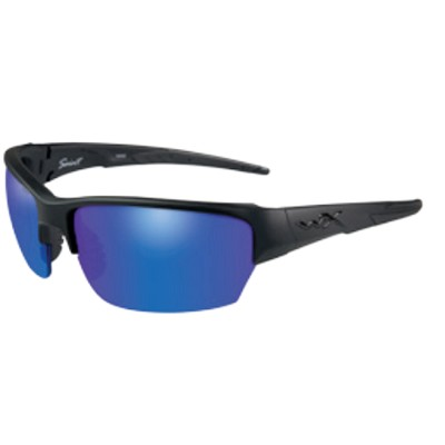 Wiley X Saint Matte Black / Polarized Blue Mirror